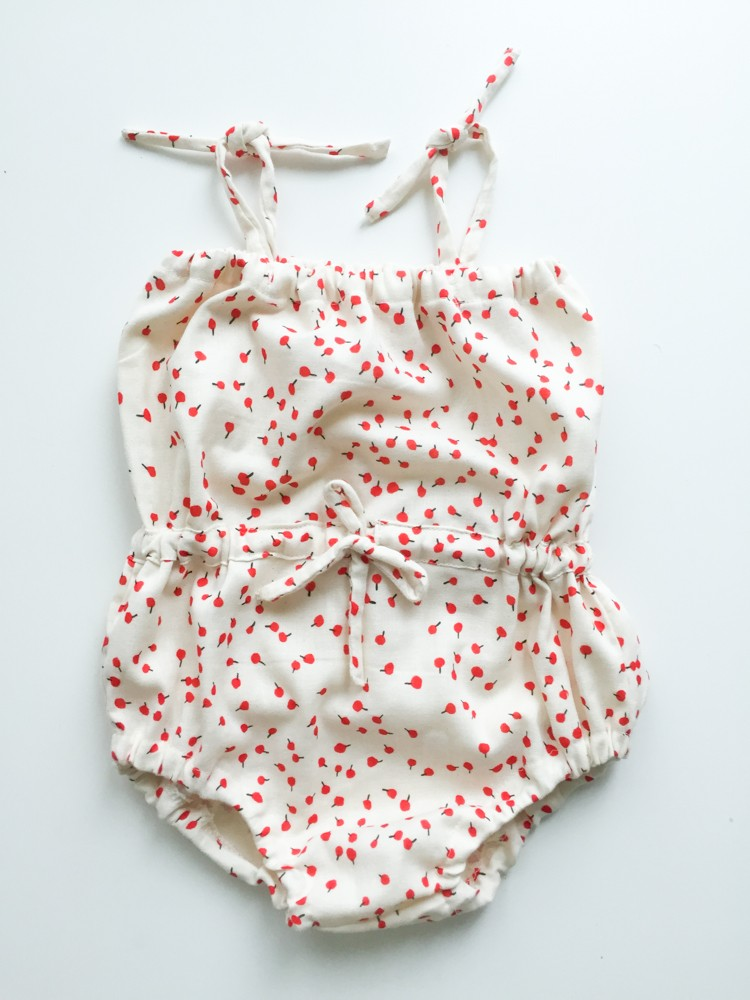 Draw string baby romper tutorial one little minute blog 1