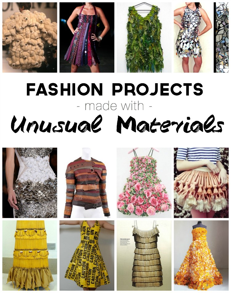 Fashion Projects Made with Unusual Materials, Round Up