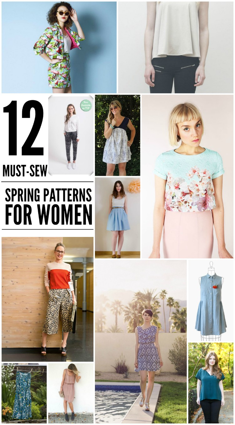 Spring Must Have Items: 12 Must-Sew Spring Patterns For Women