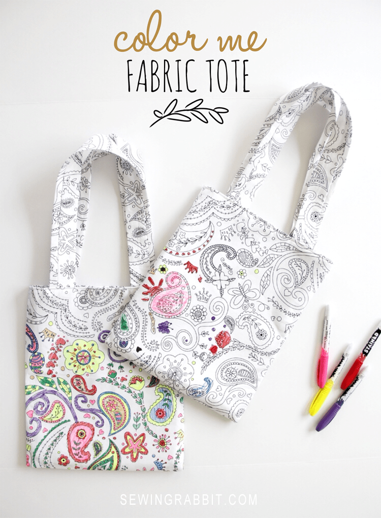 Color Me Fabric Tote DIY