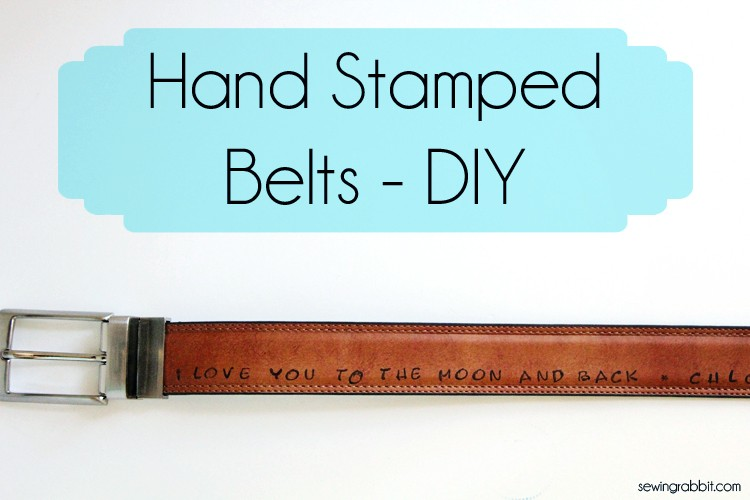 Handmade Father's Day Gift, Stamped Belt DIY