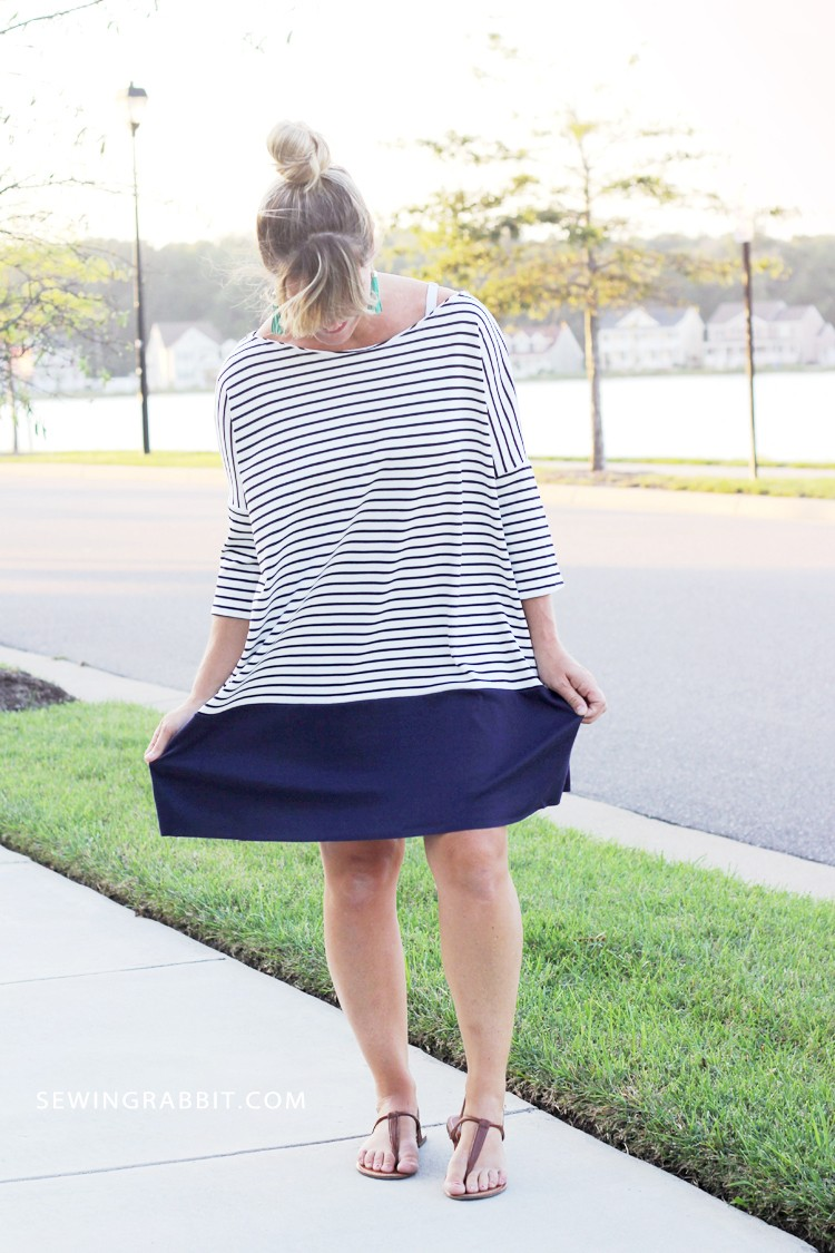 how to sew a Dolman Dress, with free women's dress pattern!