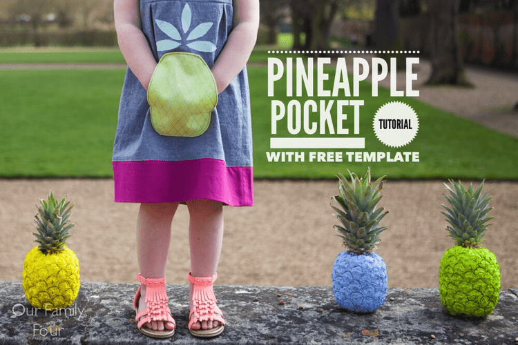 How to sew a pineapple pocket