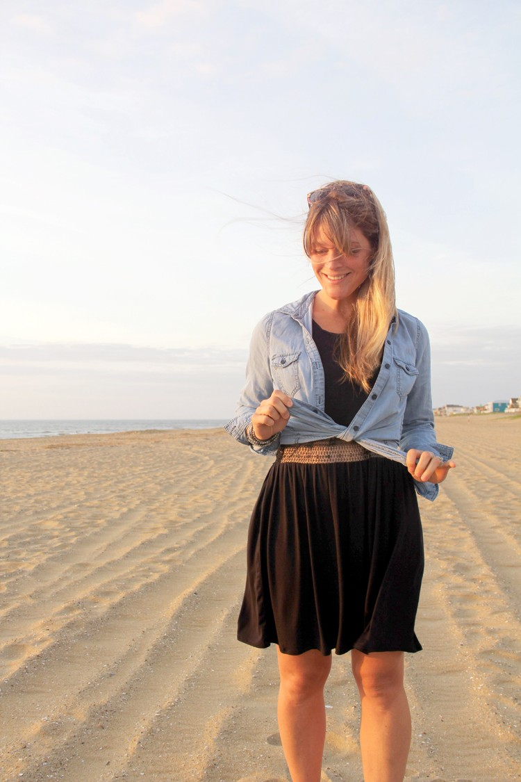 How to make a lace midriff dress - sewing tutorial.