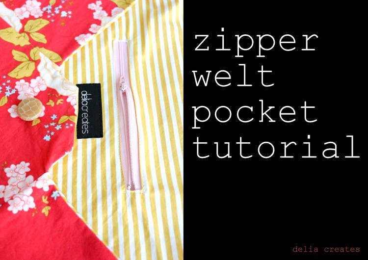Welt zipper pocket tutorial, 11 sewing techniques round up