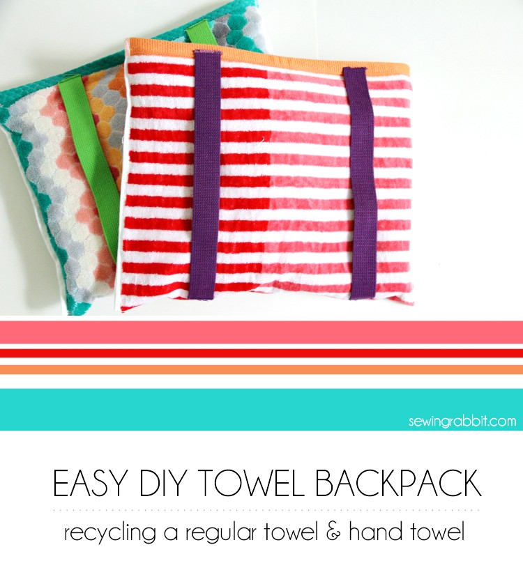 Turn ordinary towels into a beach towel backpack!