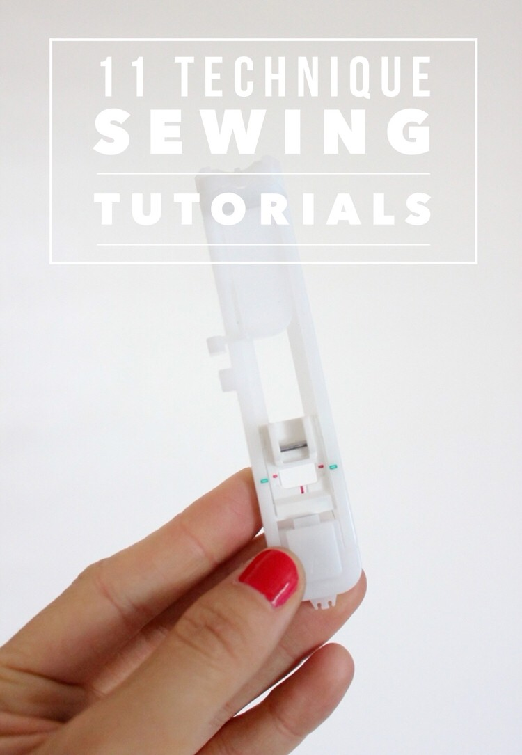 What is that sewing foot for anyway? 11 tutorials for sewing techniques....