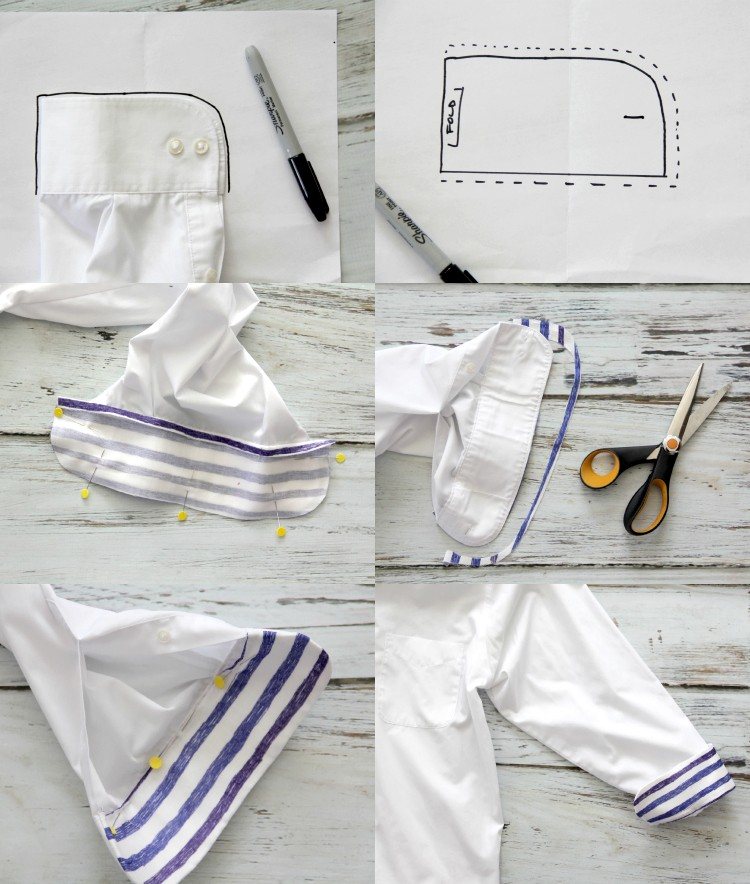 How to embellish a shirt cuff