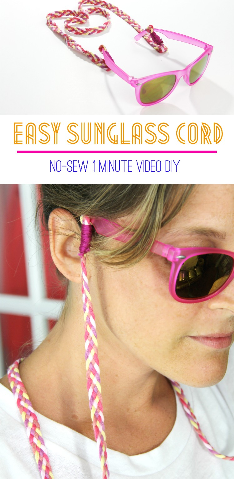 How to Make a Sunglass Cord (VIDEO included)