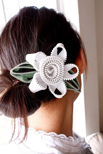 Zipper Flower DIY