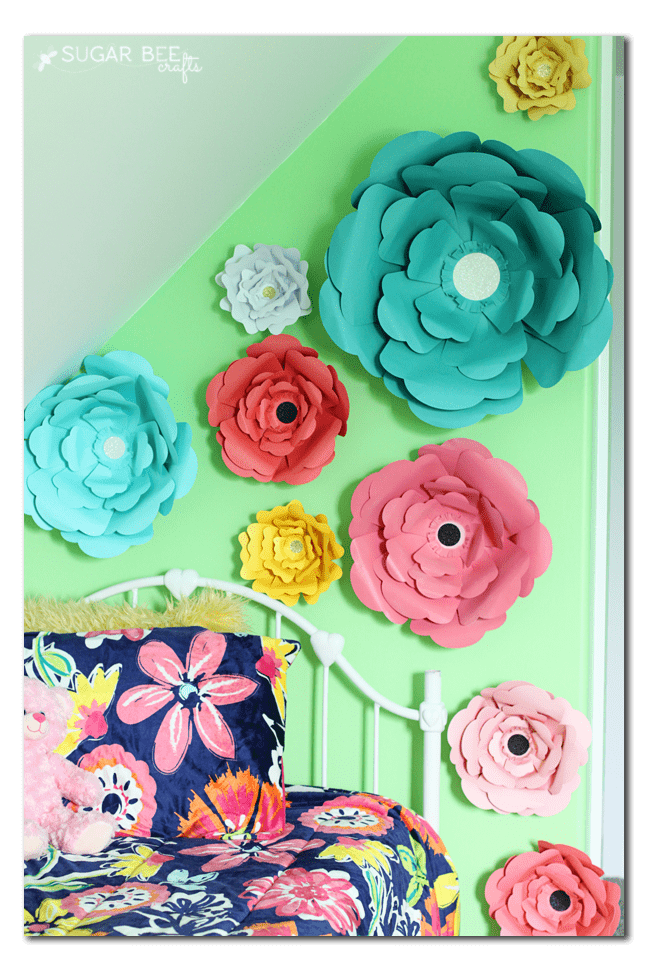 Big bloom paper flower wall decor