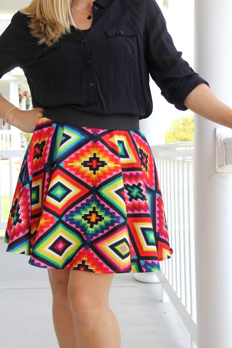 Easy Circle Skirt DIY