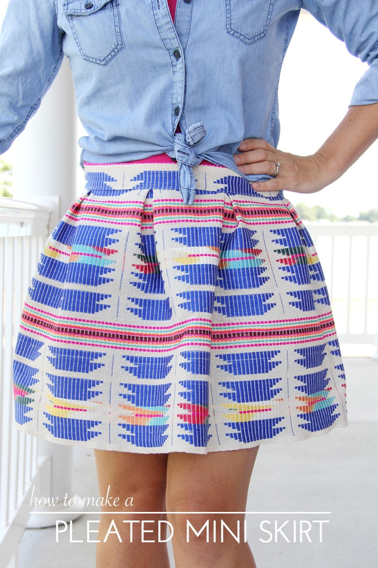 Pleated Mini Skirt DIY - The Sewing Rabbit