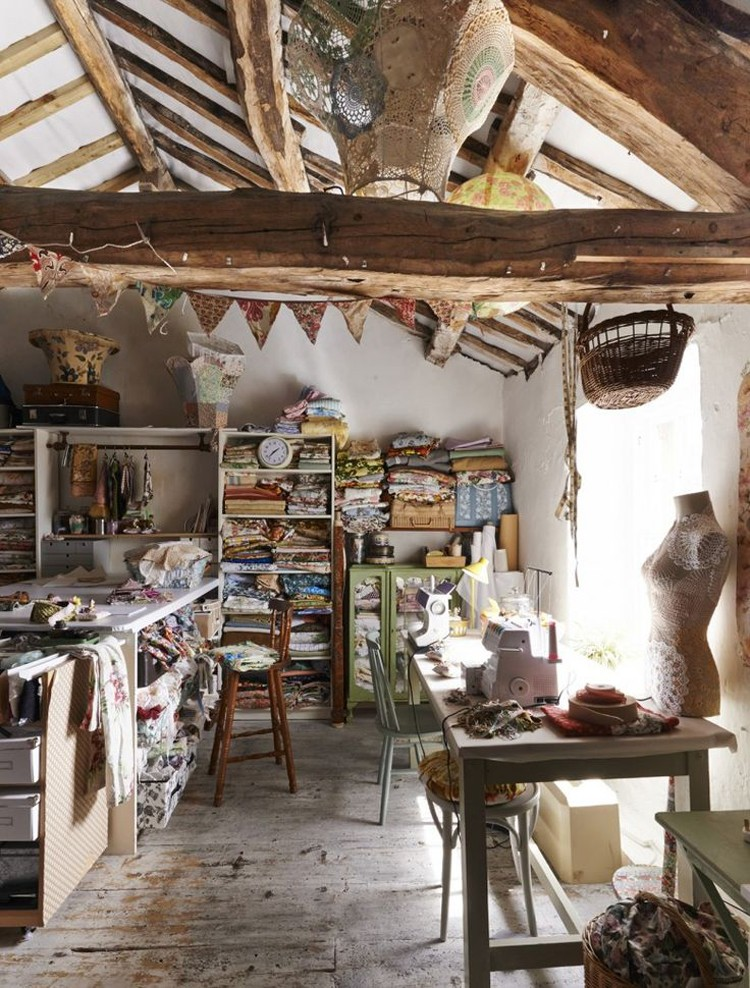 Sewing studio inspiration the sewing rabbit for Country living modern rustic issue 4