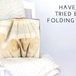 How to do book folding art (VIDEO)