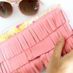 How to sew a fringe leather clutch ::: Fringe Leather Clutch DIY