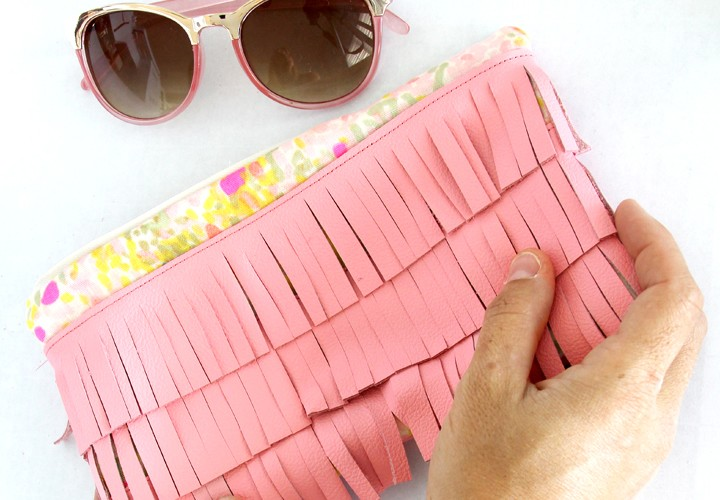 Fringe Leather Clutch DIY
