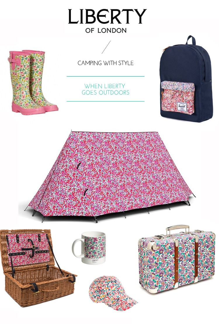 camping with liberty of london style
