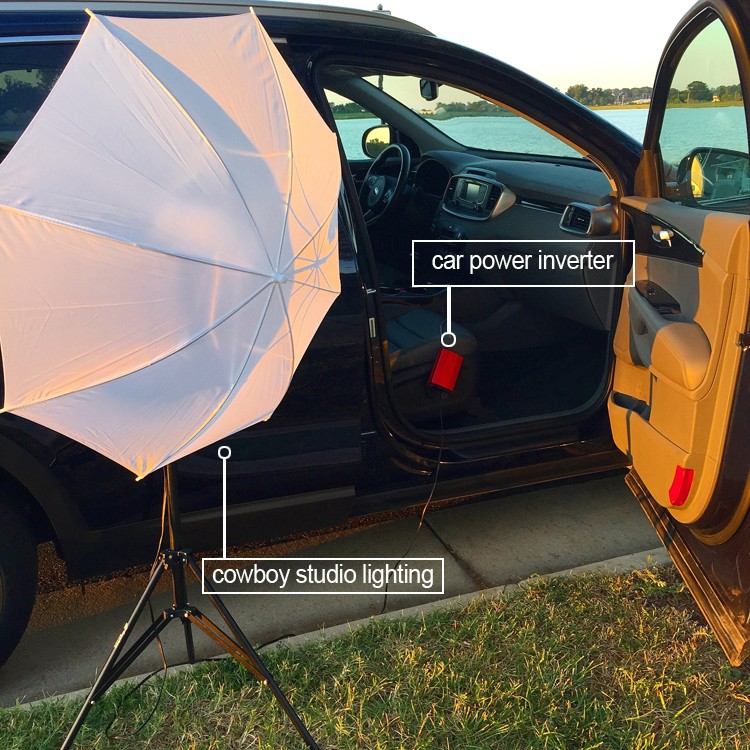 How to use your car as a photography studio on the go