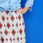 how to make an easy elastic waist maxi skirt || perfect for transitioning your wardrobe from Summer to Fall