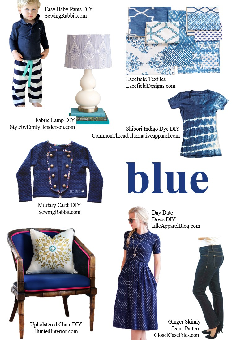 BLUE - pick a color and start sewing!
