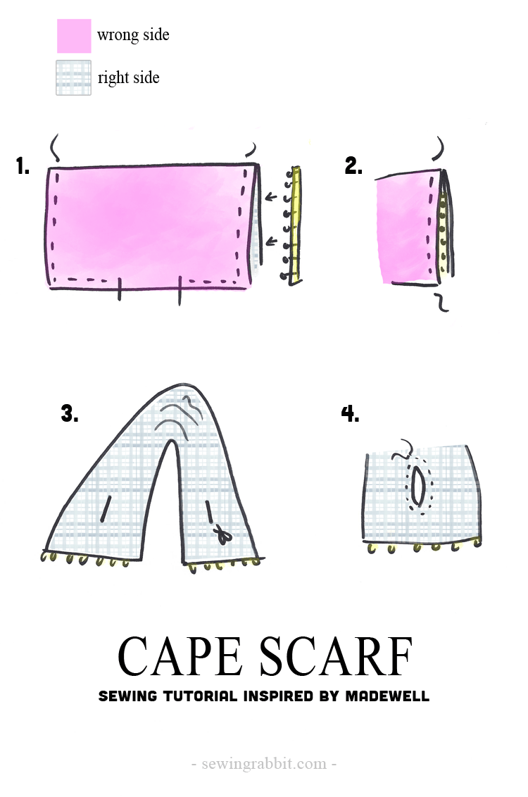 How to make an easy Cape Scarf || Cape Scarf DIY