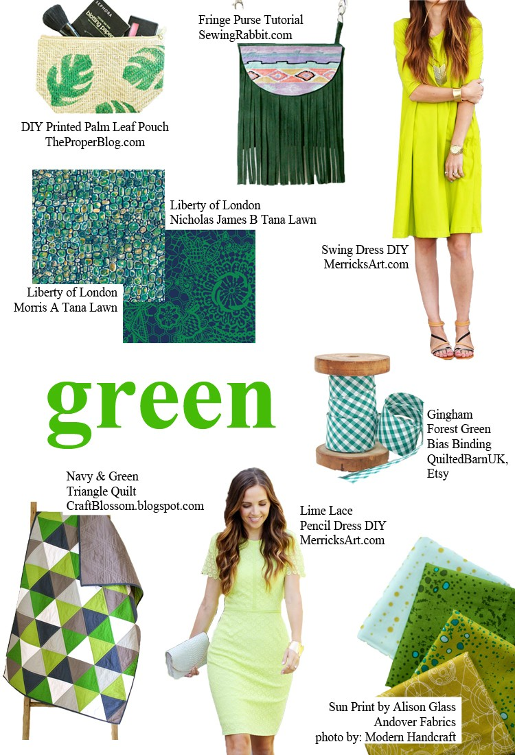 GREEN - pick a color and start sewing!