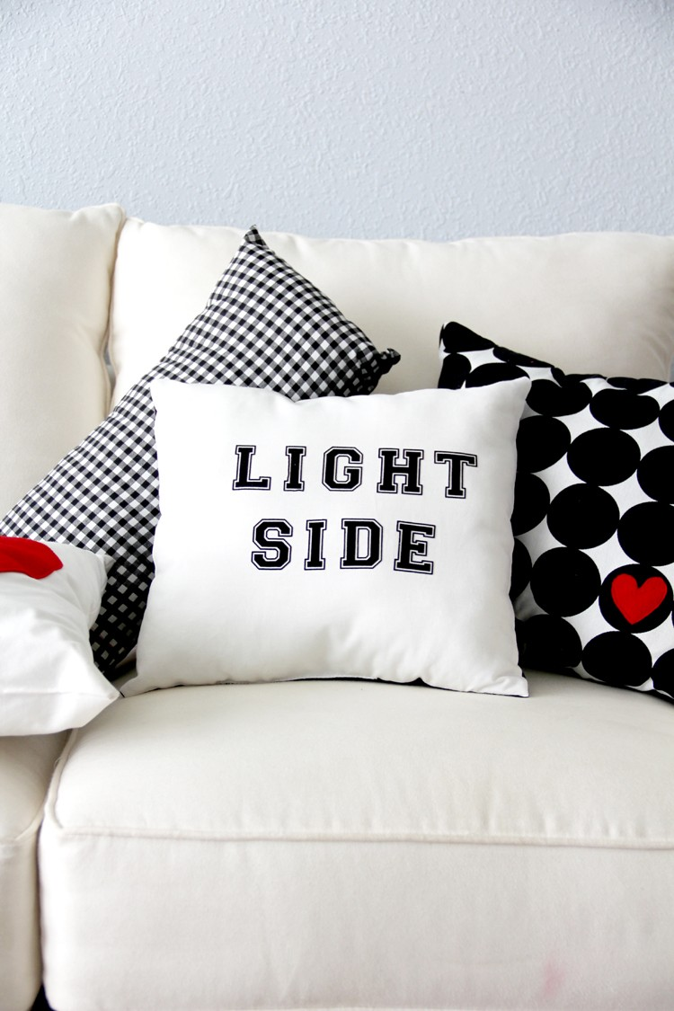 Reversible Light / Dark Side Pillow DIY