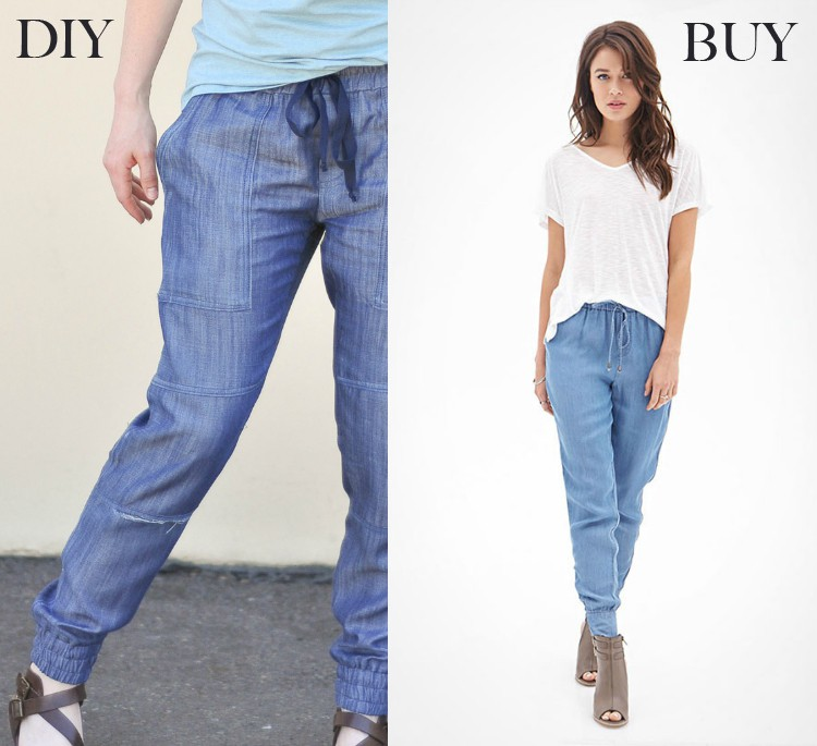 jogger pants - buy vs diy