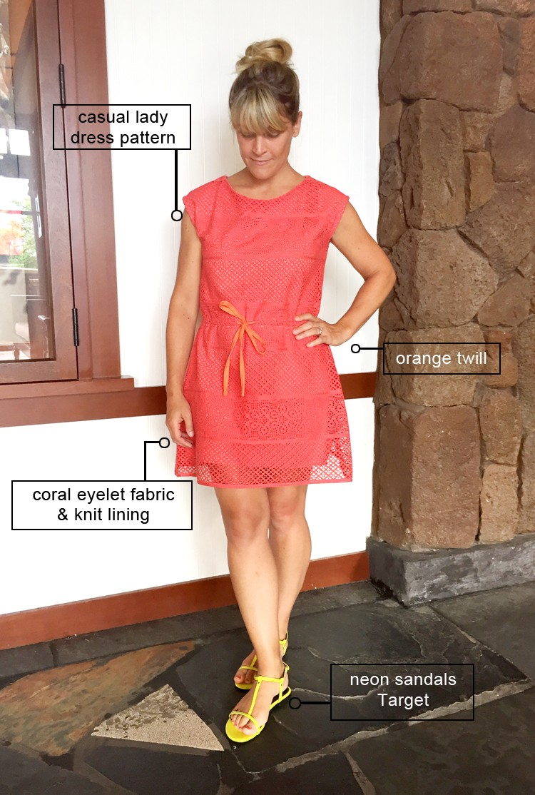 Eyelet Dress DIY || Casual Lady Dress Pattern Alteration