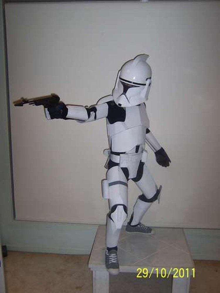 How to make a child's stormtrooper costume DIY out of cardboard!