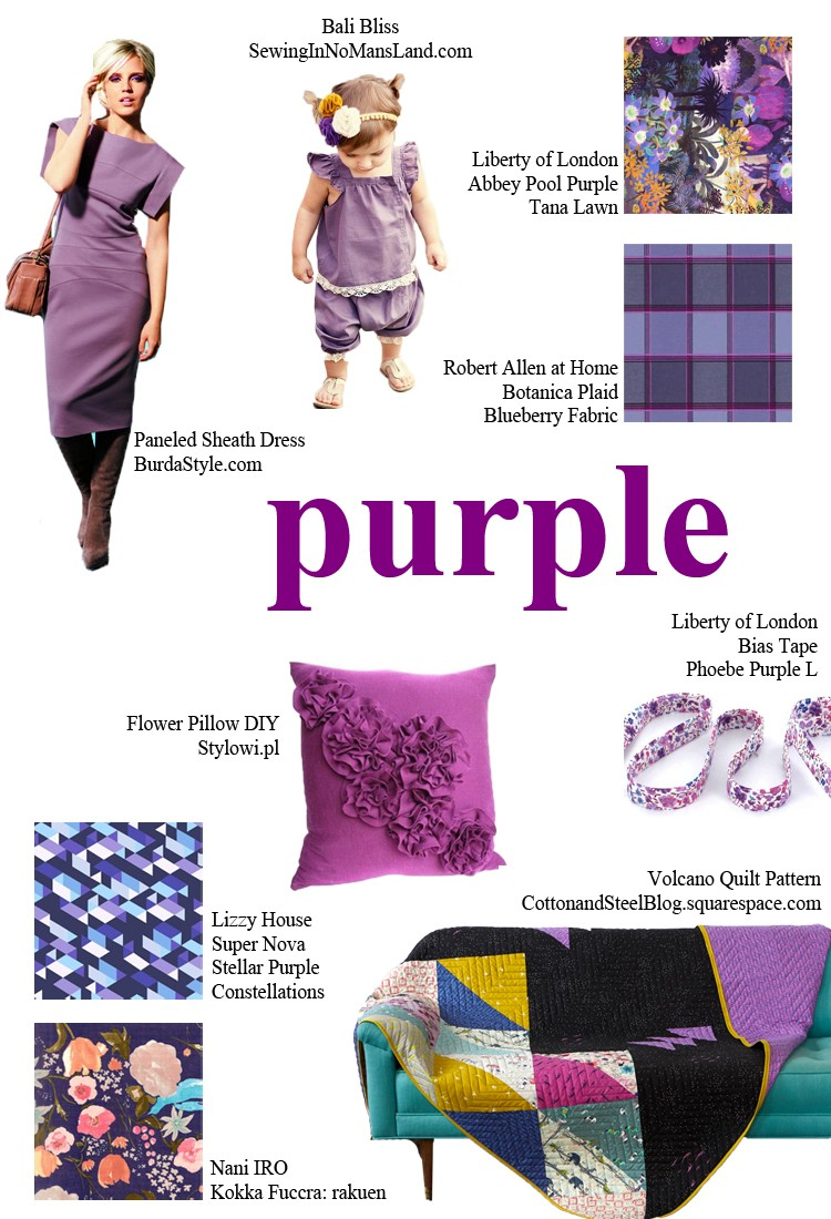 PURPLE - pick a color and start sewing!