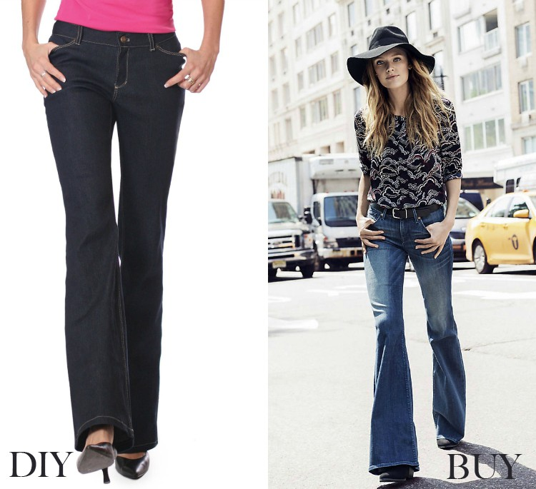 Flare Jeans - buy vs DIY