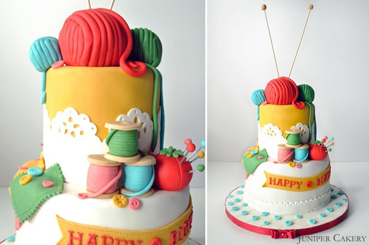 Gorgeous Sewing Themed Cakes