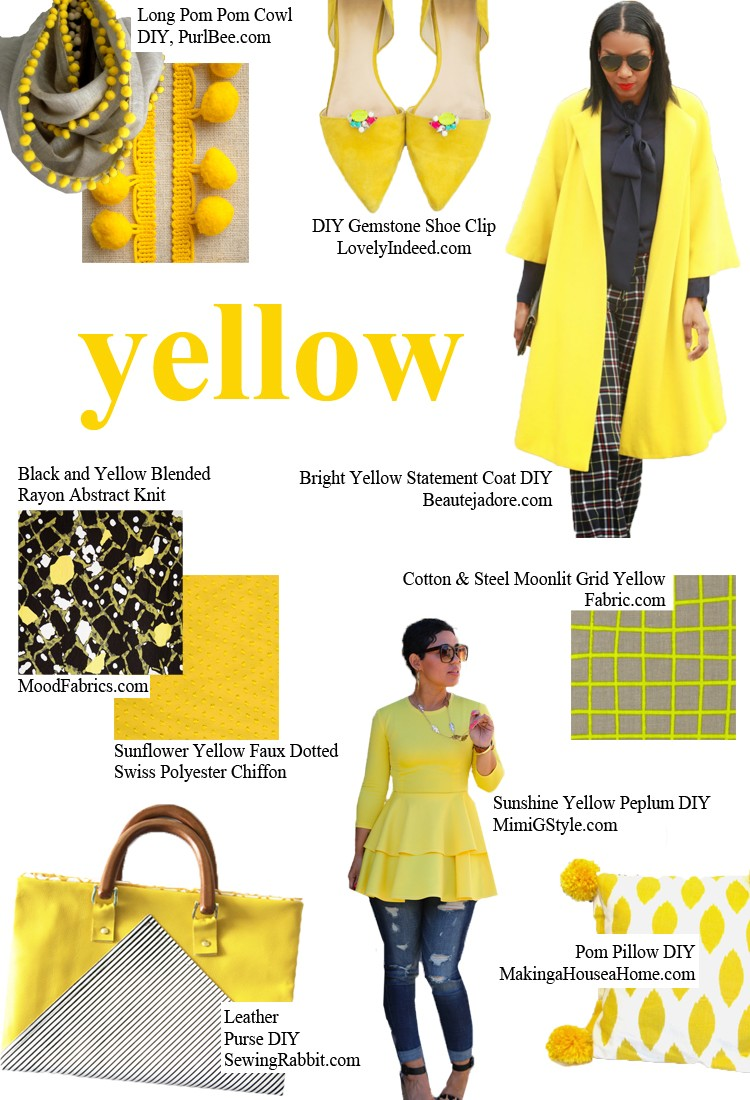 YELLOW - pick a color and start sewing!