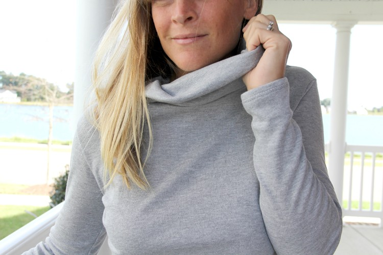 How to sew a turtleneck