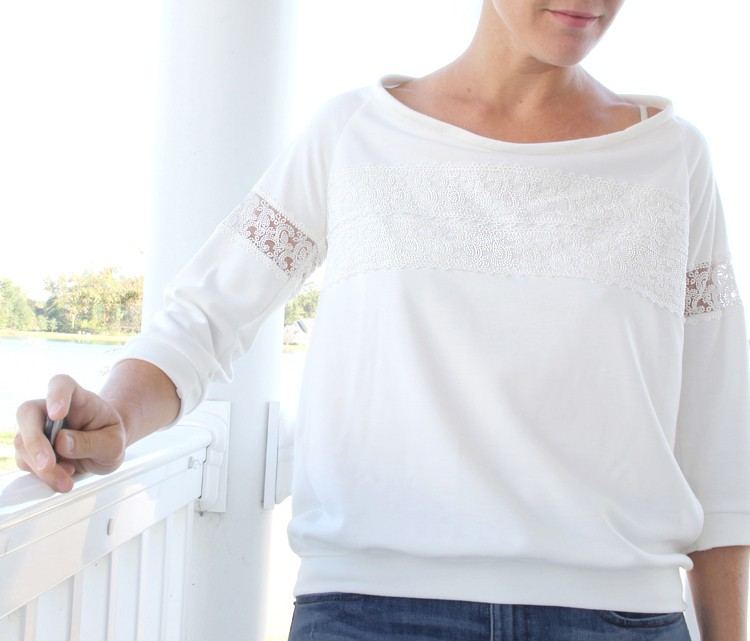 Lace Shirt DIY