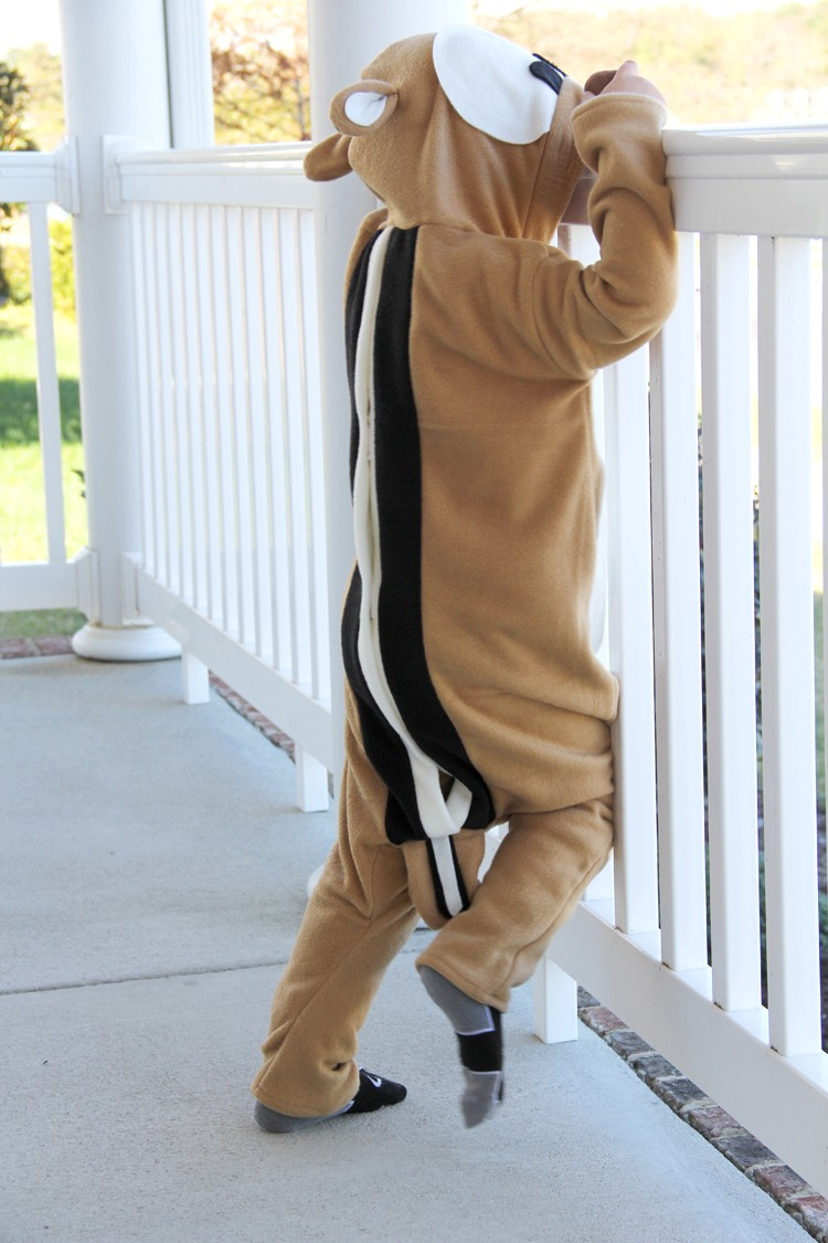 Kids Handmade Chipmunk Costume