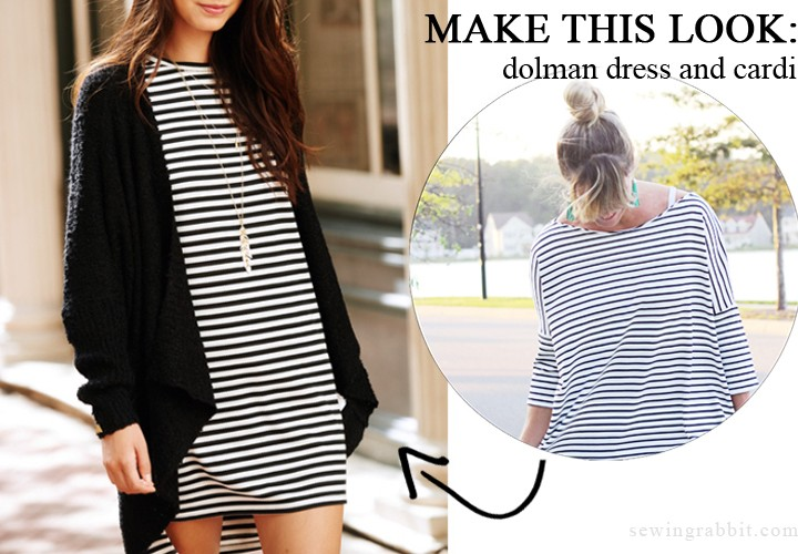 Make this Look: Dolman Dress and Cardi
