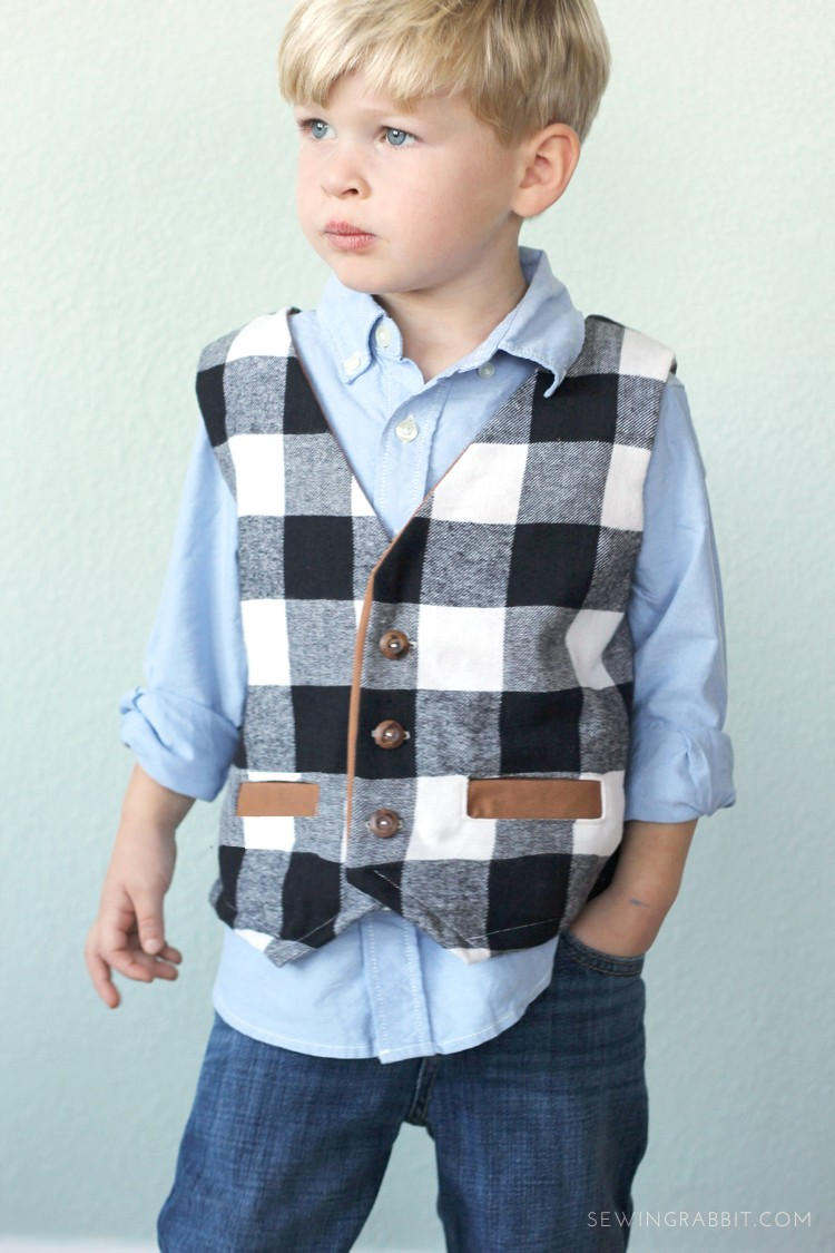 how to sew a boys vest  ||  free boys vest pattern  || handmade holiday boys clothes