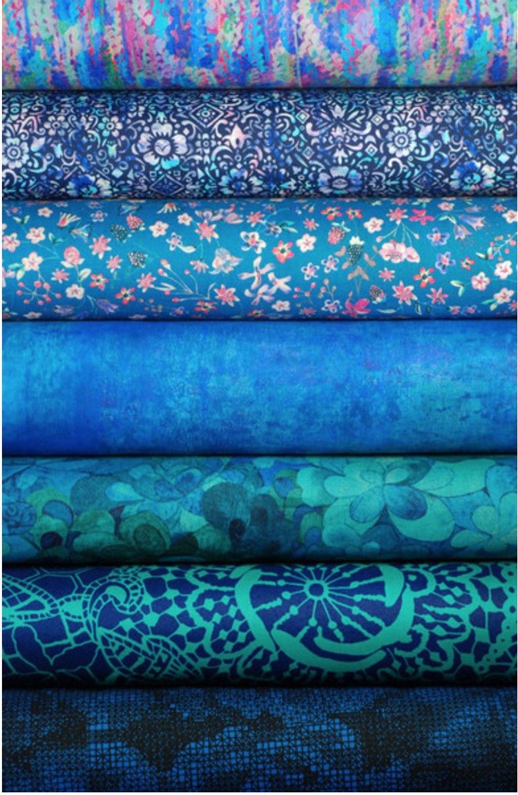 Blue fabric bundlepng