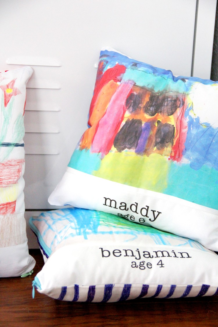 How to print artwork on fabric  ||  make handmade presents with your kids artwork.