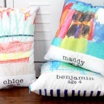 How to make fabric with your kids artwork