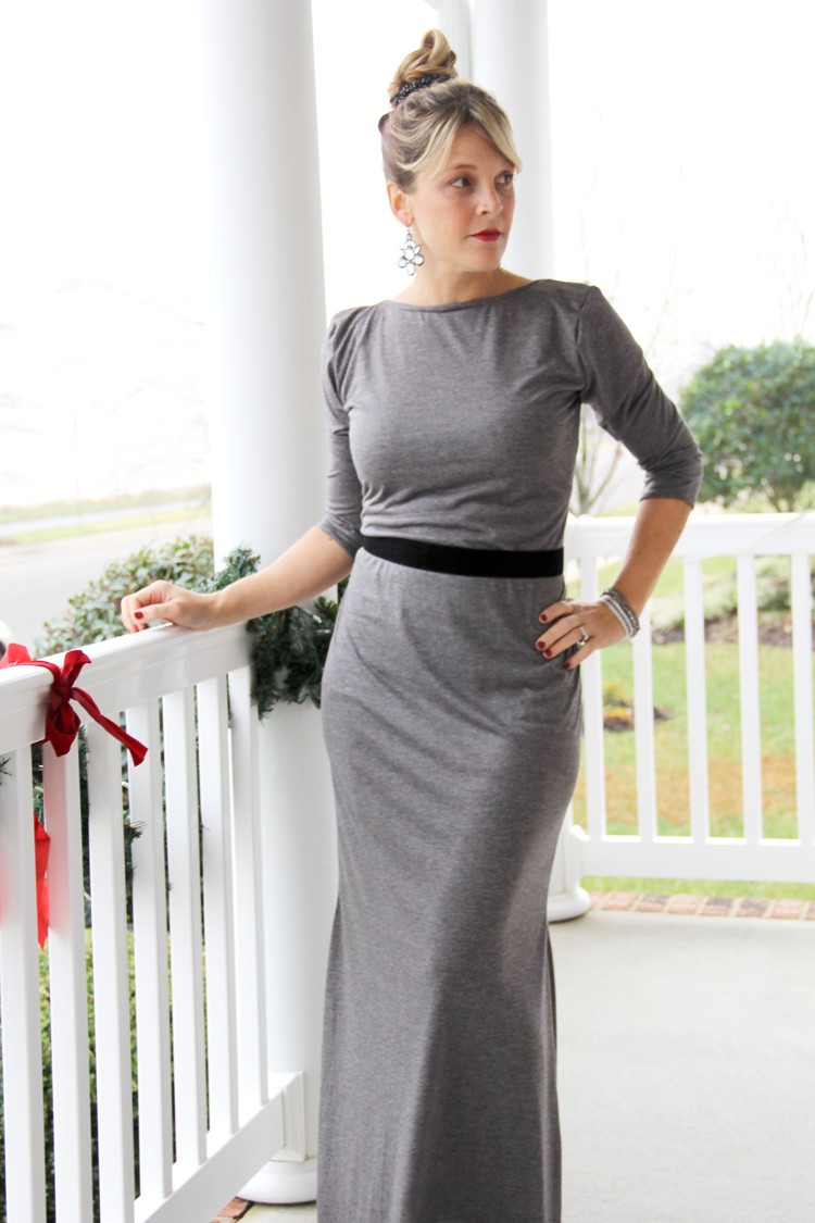 Knit Maxi Dress DIY - The Sewing Rabbit