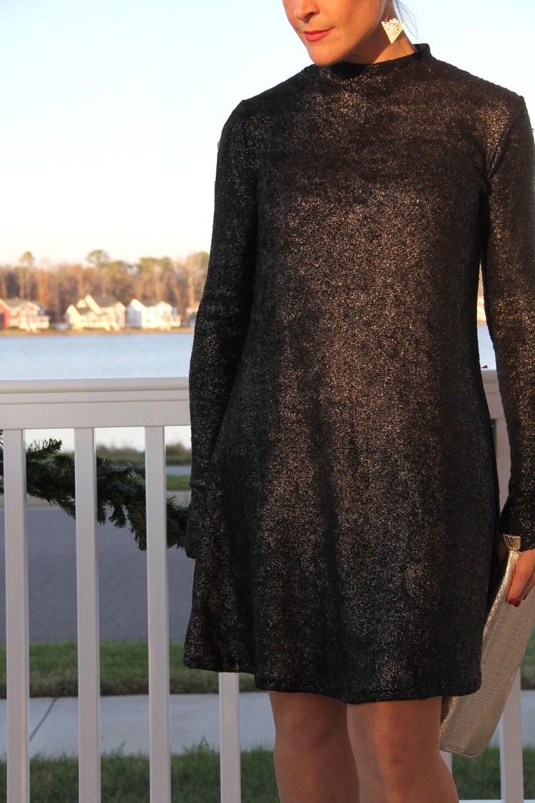 Mock Turtleneck Swing Dress DIY
