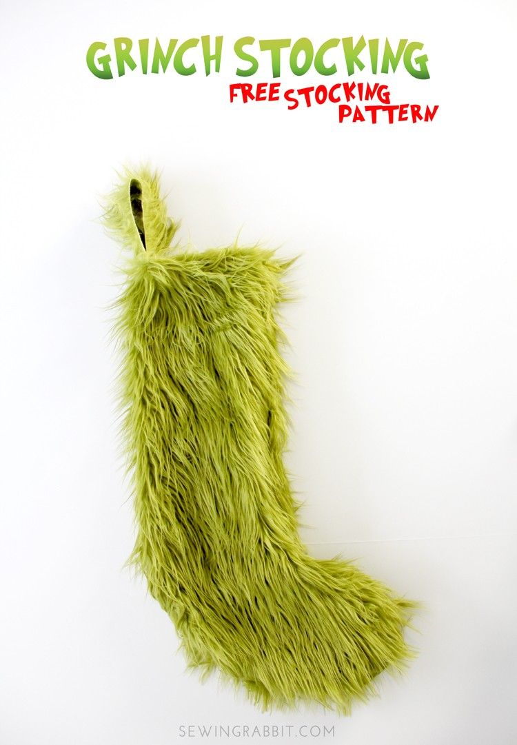 How to make a Grinch Christmas Stocking ||  Grinch Stocking DIY