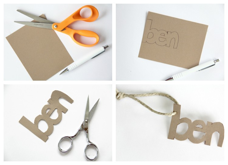 name tag DIY