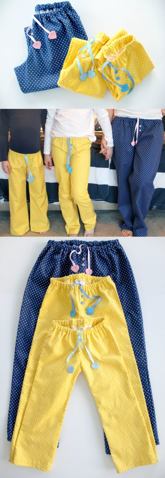 mother / daughter pajama pants - perfect for Valentine's Day!