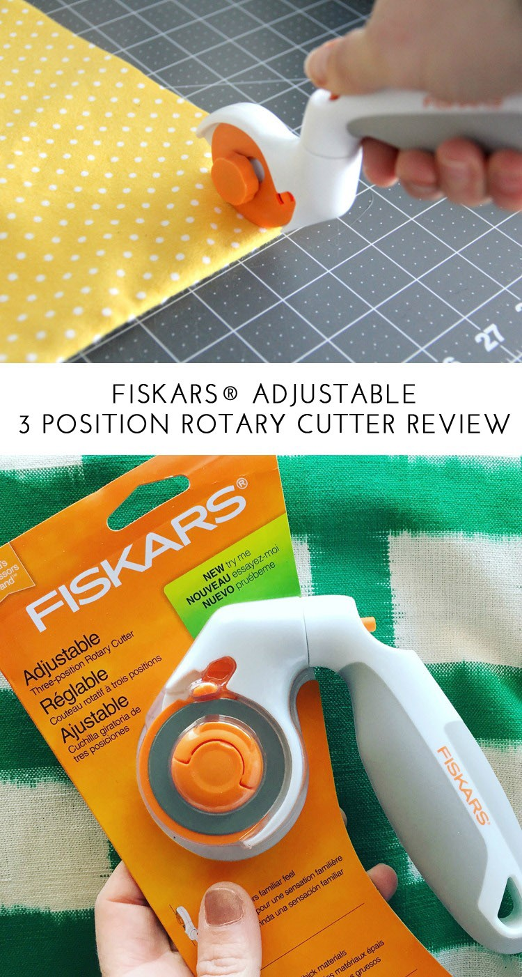 How to use the adjustable fishers rotary cutter  ||  Fiskars® adjustable 3 blade position rotary cutter review