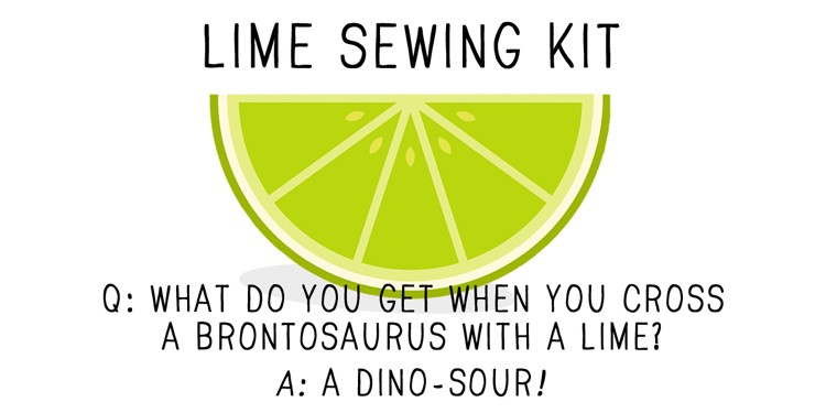 LIME SEWING KIT LABEL